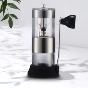 Useful Manual Ceramic Coffee Grinder Stainless Steel Adjustable Coffee Bean Mill With Spoon Kitchen Tools Cafe Coffeeware